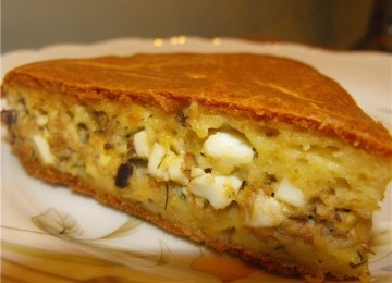 Пирог с тунцом и брынзой (ЧЕРЕДОВАНИЕ)