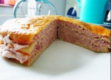 Блинный торт с тунцом (АТАКА)