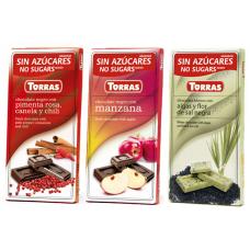 """Низкоуглеводный шоколад ТМ """"Torras"""", плитка 75 грамм"""
