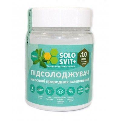 """Натуральный подсластитель """"SoloSvit Stevia+"""", банка 200г"""